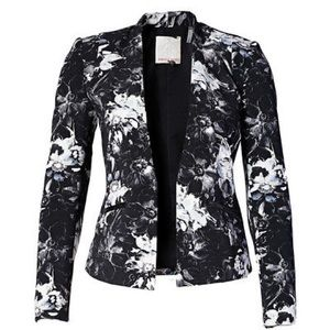 Rebecca Taylor fitted floral blazer